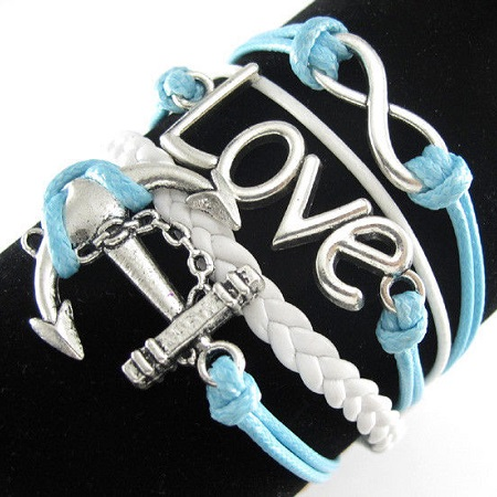 Infinity zapestnica svetlo modra - Love