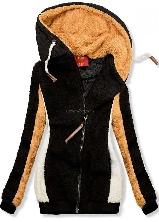 Ženska zimska jopica s kapuco