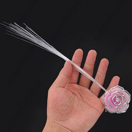 Bleščeči LED dodatek za v lase z motivom rožice