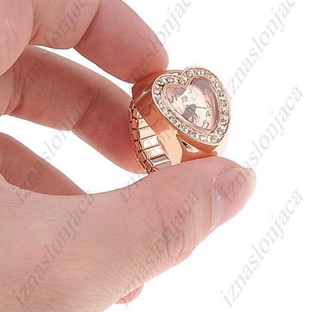 Ženska Quartz prstan ura 'srček'