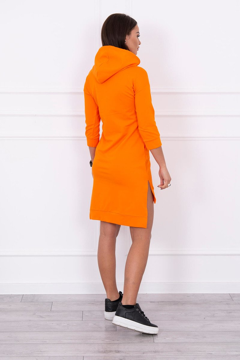 Asimetrična obleka s barvnim tiskom