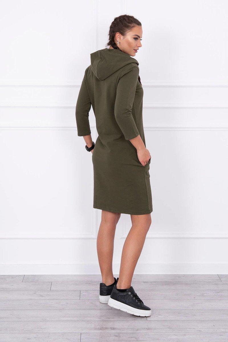 Obleka s kapuco in žepi