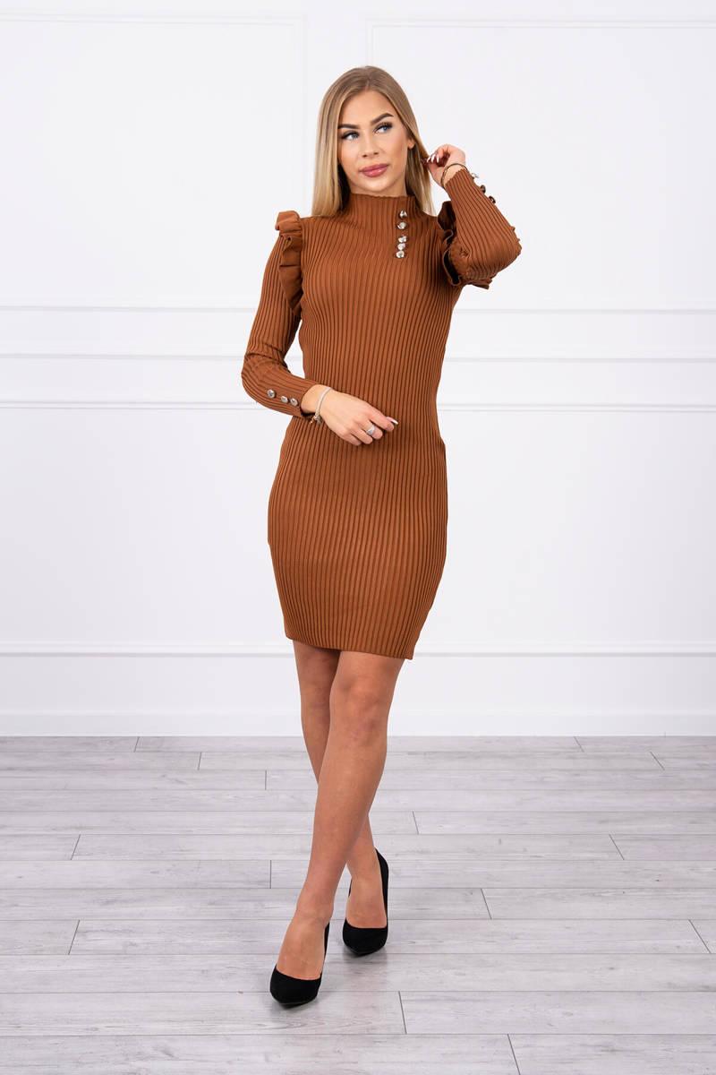 Ženska obleka z okrasnimi gumbi