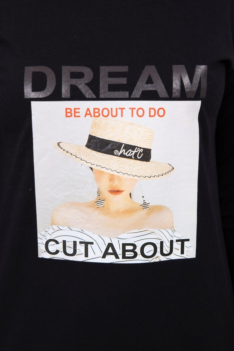 Obleka s potiskom Dream