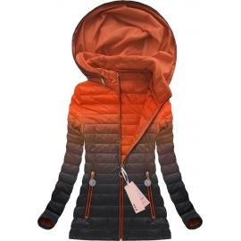 Prešita prehodna ombre jakna RENNIE (W616), oranžna/črna