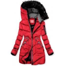 Topla bunda z dekorativnimi dodatki M9, rdeča