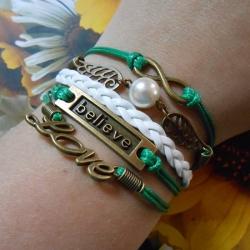 Infinity zapestnica temno zelena - Believe