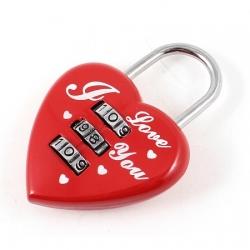 Srčkasta ključavnica 'I Love You'