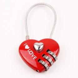 Srčkasta ključavnica za zaljubljene