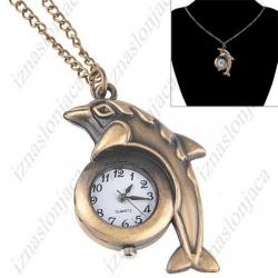 Ženska ura na verižici 'delfinček'