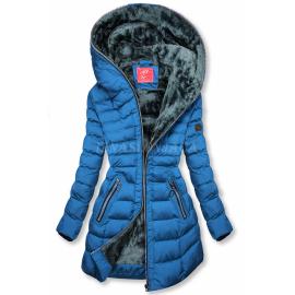 Zimska prešita bunda s kapuco M-133, modra