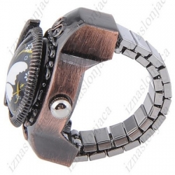Ženska Quartz prstan ura z motivom metulja
