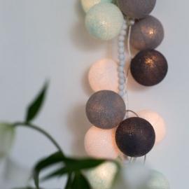 Bombažne lučke na vrvici ♥AQUA & GREY♥