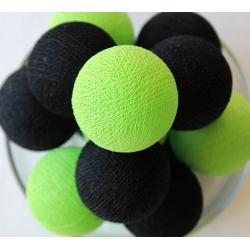 Bombažne lučke na vrvici ♥BLACK & GREEN♥