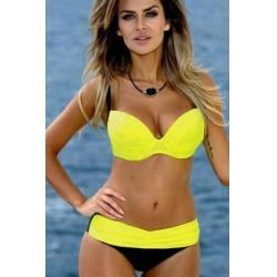 Elegantne bikini ženske kopalke LOTTIE Yellow