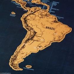 Zemljevid sveta za podrsati (deluxe)