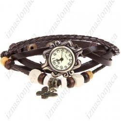 Ženska vintage ura z metuljčkom