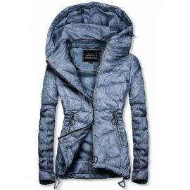 Rahlo telirana prehodna jakna W714, svetlo modra