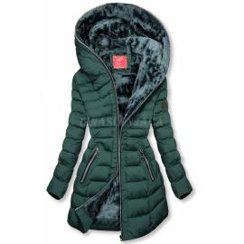 Zimska prešita bunda s kapuco M-133, zelena