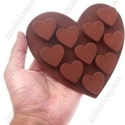 Model za peko v obliki srčka