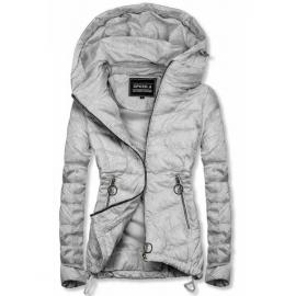 Rahlo telirana prehodna jakna W714, svetlo siva