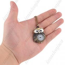 Ženska Quartz ura na verižici 'sovica'
