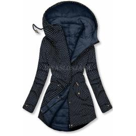 Obojestranska prehodna jakna s pikicami M-111, temno modra