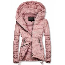Rahlo telirana prehodna jakna W714, svetlo roza