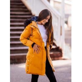 Prešita zimska bunda s kombinirano notranjostjo