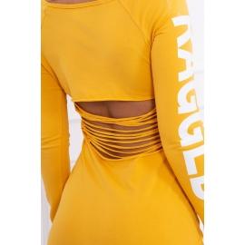 Obleka z napisom na rokavih Ragged