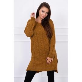 Pleten oversize pulover S7641, moro