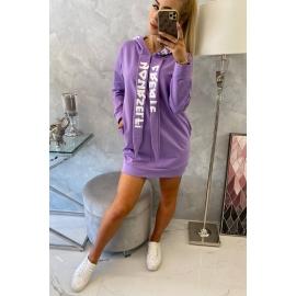 Oversize obleka s kapuco 0042, vijolična