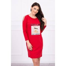 Obleka s potiskom Dream 66860, rdeča