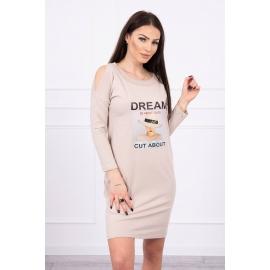 Obleka s potiskom Dream 66860, bež