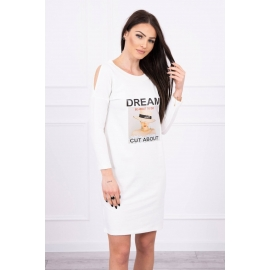 Obleka s potiskom Dream 66860, ekru