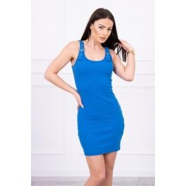 Obleka z nastavljivimi naramnicami 5427, modra
