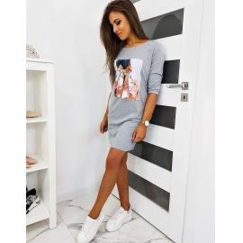 Obleka s printom NOEMI EY1123, siva