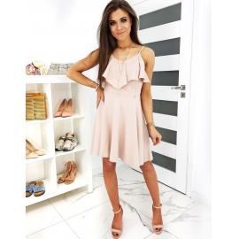 Obleka z naramnicami CORNELIA EY1194, svetlo roza
