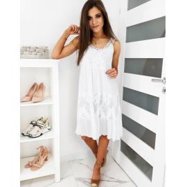 Čipkasta obleka FRESCA EY1219, bela