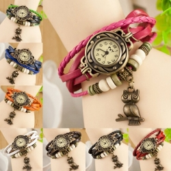 Ženska vintage ura z obeskom sovice